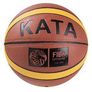 Мяч баскетбольный Kata №7 PU, FIBA