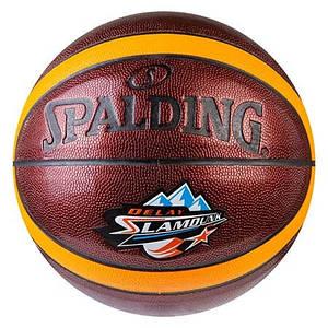 Мяч баскетбольный Spalding №7 PU, неон SlumDunk, оранж