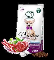 Optimeal гипоалергенный корм для собак малых и миниатюрных пород, с ягненком и рисом, 4 кг