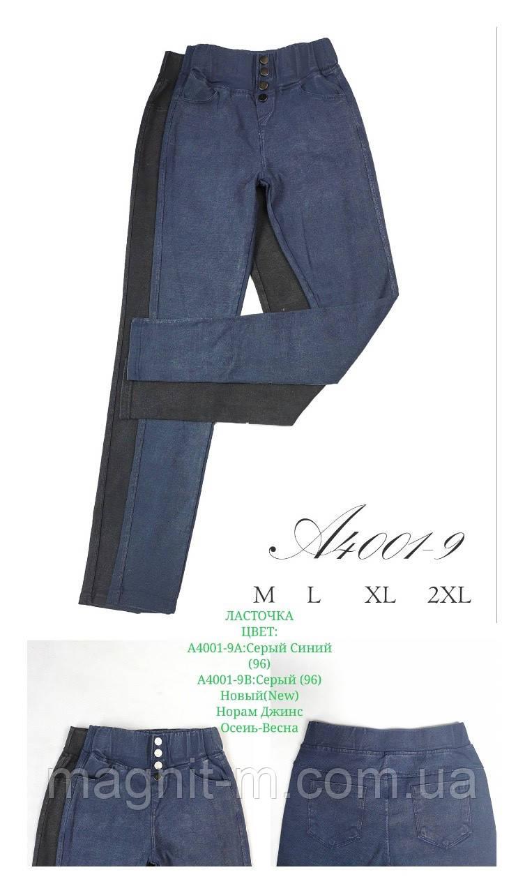 """Стрейчеві джинси """"Ластівка"""". Синій і темно-сірий колір. №A4001-9."""