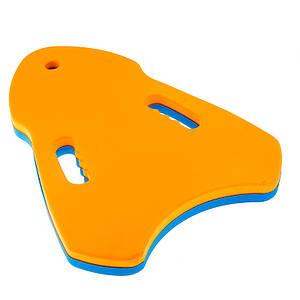 Доска для плавания треугольная с вырезами под пальцы EVA 39*27*3,5см. Цвета в ассортименте