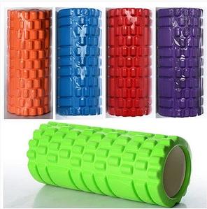 Масажний валик (ролик) для йоги та фітнесу / Пінний масажний рол, кольори рожевий, синій, червоний