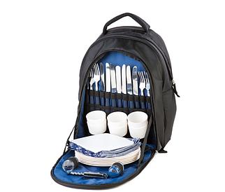 Сумка-пикник GREEN CAMP рюкзак-пикник на 6 человек, сумка для пикника, цвет черно-синий