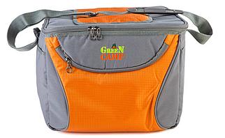 Сумка-холодильник, термосумка, GREEN CAMP GC1410-3, серо-оранжевая, объем 15 л