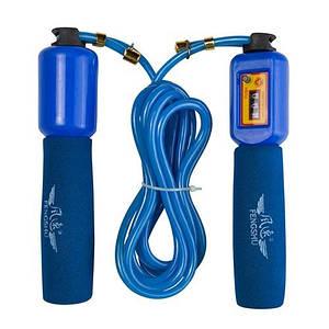 Фітнес скакалка з лічильником для фітнесу і спорту, IronMaster 2.8 м, канат PVC