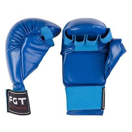 Накладки для карате FGT, PU4008, S, M, синий, фото 2