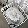Кокон гездышко для новорожденных Magic Зайка серебро, фото 4