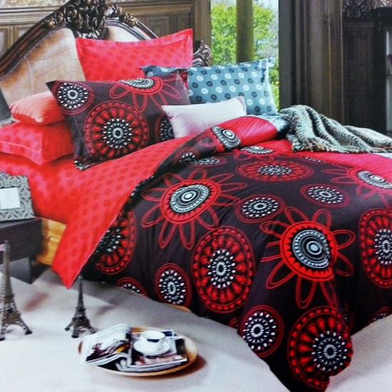 Комплект постельного белья евро Elway 4206 Passion Flower