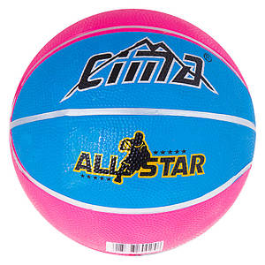 Мяч баскетбольный резиновый №3 Sima, R3CM.