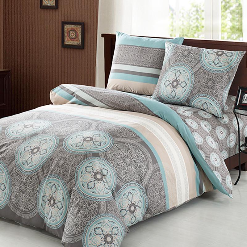 Комплект постельного белья евро Elway 3361 Antalya