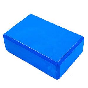 Йога блок 23х15х7.5см, синій, вага 175г. Знижка