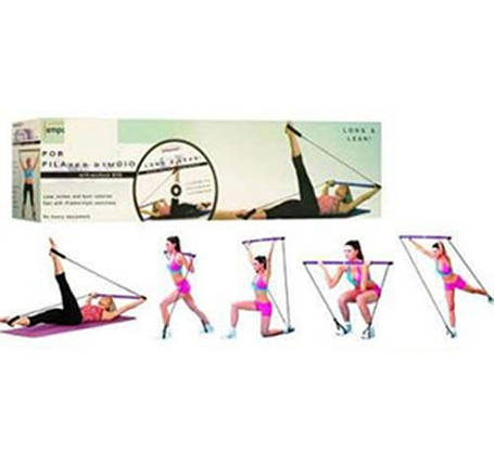 Еспандер, гімнастична палиця з еспандером для фітнесу, пілатесу EM POWER., фото 2