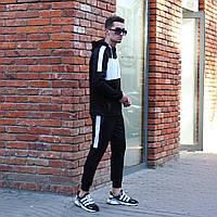 Спортивный костюм мужской олимпийка штаны крепдайвинг черный весна лето Киев
