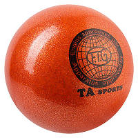 Мяч гимнастический TA SPORT, 400грамм, 19 см, глиттер, коричневый.