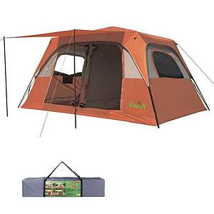 Палатка 6+2 местная GreenCamp 1610, полуавтомат.