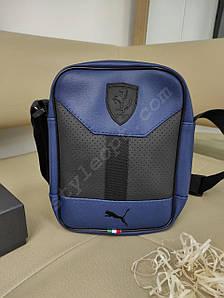 Мужская сумка-планшет с перфорацией из кожзама 24*19*4 см