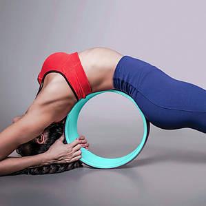 Колесо для йоги, PP*TPE, 32х13см, колір чорний
