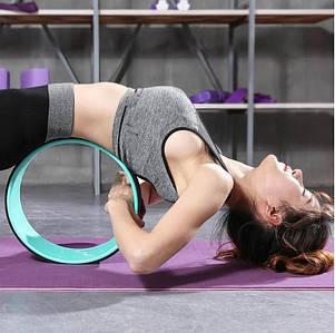 Колесо для йоги, PP*TPE, 32х13см, колір синій