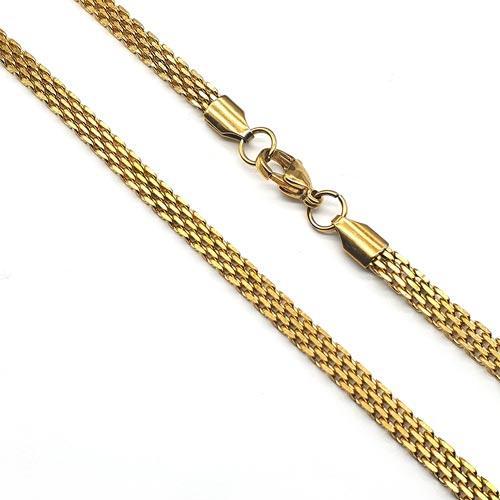 Ланцюг з позолоченої сталі плетіння Пітон 60 см/4 мм 176520