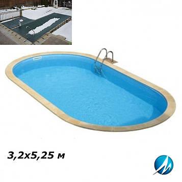 Зимове накриття для басейну 3,2х5,25 м
