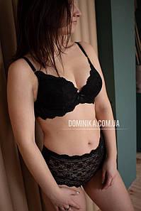 80C Черный кружевной комплект женского нижнего белья, кружевные трусики высокой посадки, бюст пуш ап