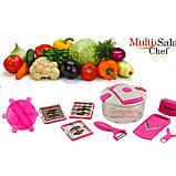 9 в 1! Багатофункціональна терка-овочерізка з контейнером basket vegetable cutter побутової подрібнювач, фото 7
