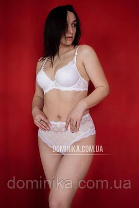 80С Белый кружевной комплект женского нижнего белья, кружевные трусики высокой посадки, бюст пуш ап, фото 2