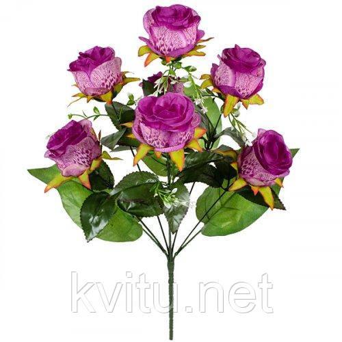 Искусственные цветы букет розы Павлин, 65см