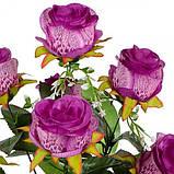 Искусственные цветы букет розы Павлин, 65см, фото 2
