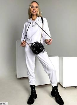 Модний спортивний костюм жіночий білий, весна-літо, турецька двунітка