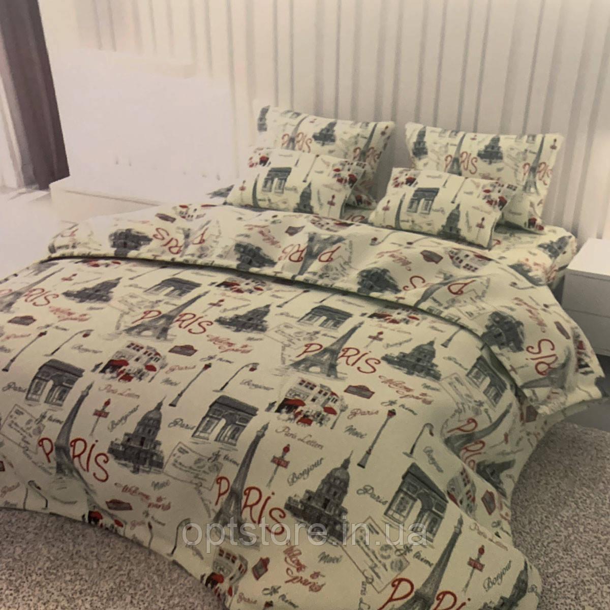 """""""париж"""" комплект постільної білизни; двоспальний 180/210, нав-ки 70/70, тканина сатин, 100% складається з бавовни"""