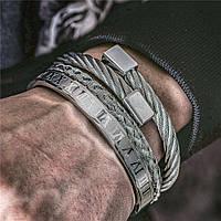 """Комплект мужских браслетов """"Гермес"""""""