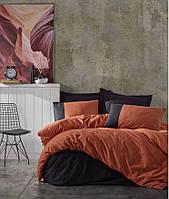Комплект постельного белья евро Cotton Box  Plain Sport Kiremit Siyah