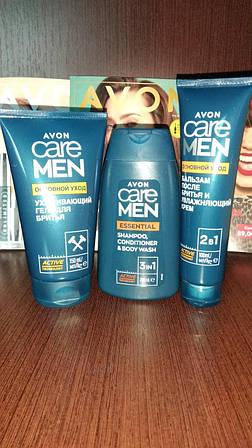"""Набор для мужчин """"Основной уход"""", Avon (гель для бритья, шампунь,бальзам после бритья)"""