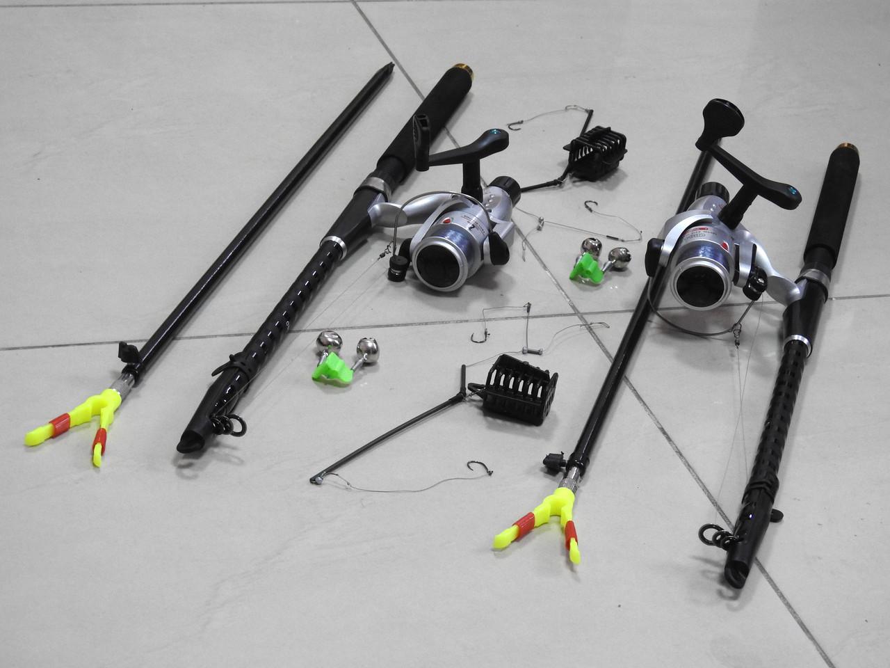 Спиннинги Armor 2,7м с катушками CB640 в Сборе 2шт Универсальный рыболовный набор + ПОДАРОК