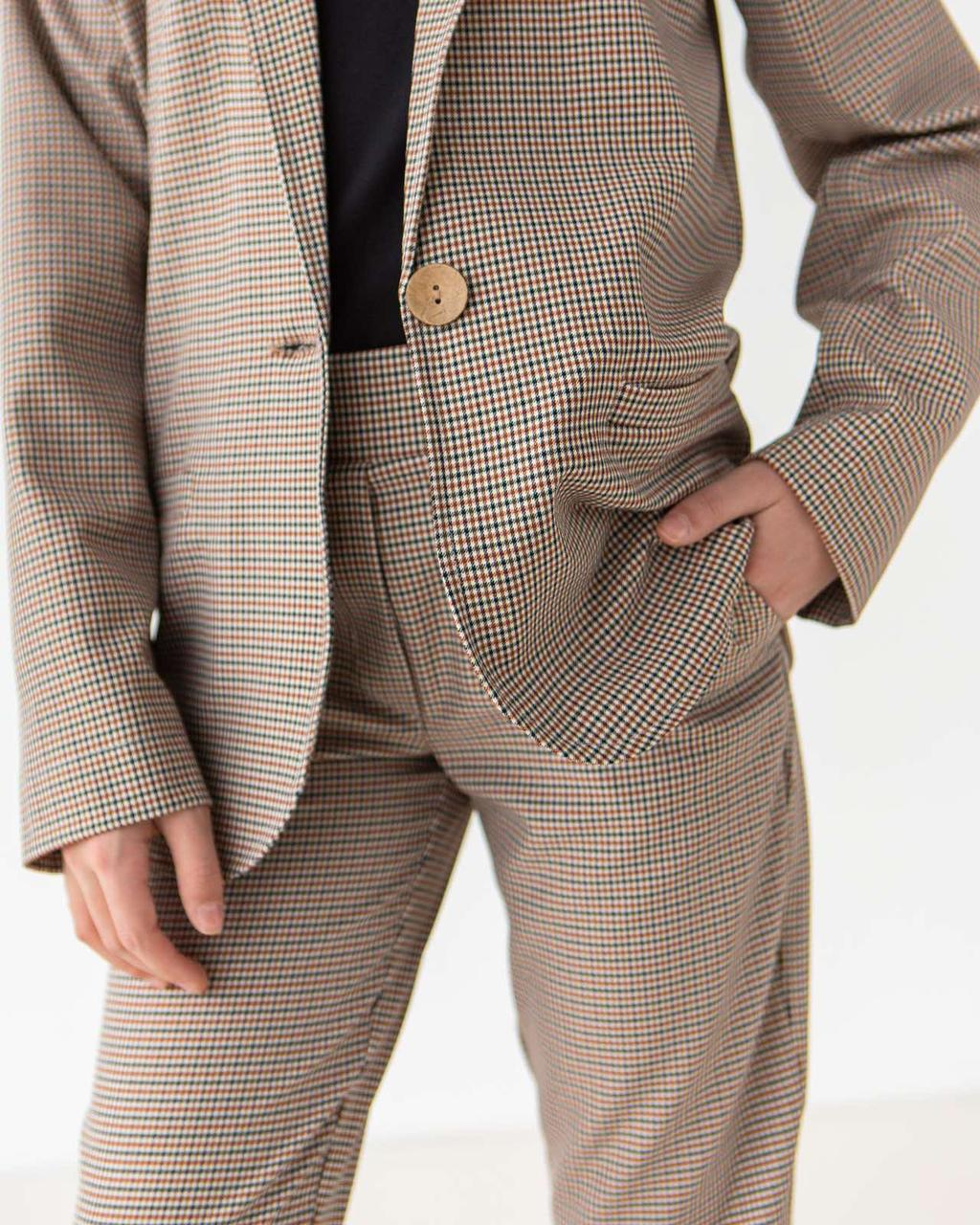 Костюм (жакет, брюки) для девочек Kidsmod 134  бежевый 981402