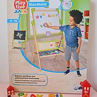 Дитячий мольберт двостороння магнітна дошка 3 в 1 для малювання крейдою та маркерами Playtive