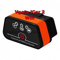 Автосканер VGate iCar 2 WI-FI, с кнопкой питания