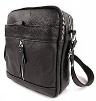 Мужская кожаная сумка-барсетка через плече Tiding Bag SK N7689  черная, фото 3