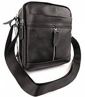 Мужская кожаная сумка-барсетка через плече Tiding Bag SK N7689  черная, фото 4