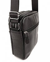 Мужская кожаная сумка-барсетка через плече Tiding Bag SK N7689  черная, фото 5