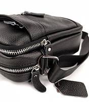 Мужская кожаная сумка-барсетка через плече Tiding Bag SK N7689  черная, фото 6