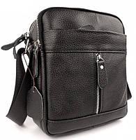 Мужская кожаная сумка-барсетка через плече Tiding Bag SK N7689  черная, фото 2
