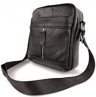 Мужская кожаная сумка-барсетка через плече Tiding Bag SK N7689  черная, фото 9