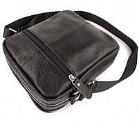 Мужская кожаная сумка-барсетка через плече Tiding Bag SK N7689  черная, фото 10