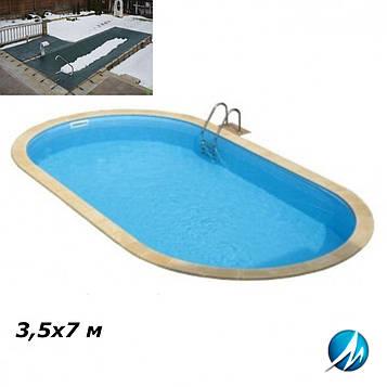 Зимовий накриття для басейну 3,5х7 м