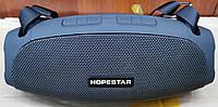 Портативная беспроводная стерео колонка Hopestar H43 c Bluetooth USB и MicroSD синяя