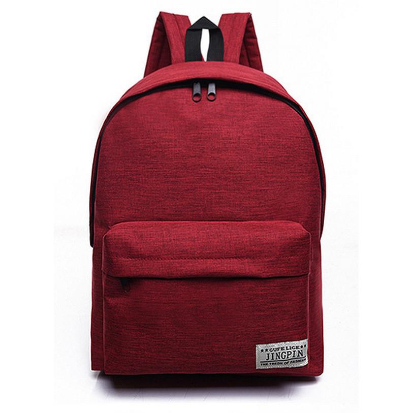 Женский рюкзак бордового цвета, рюкзак бордо, городской рюкзак из ткани СС-3732-91