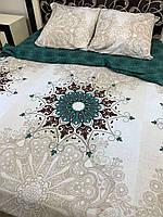 Комплект постельного белья с узором Полуторка, Двухспальное, Евро, Семья