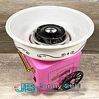 Аппарат для приготовления сладкой (сахарной) ваты Большой Carnival Cotton Candy Maker на колесах (розовый)